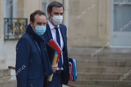 French Health and Social Affairs Minister Olivier Veran  French Overseas Minister Sebastien Lecornu