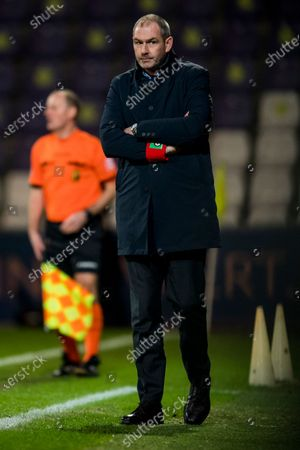 Cercle's head coach Paul Clement pictured during a soccer match between Beerschot VA and Cercle Brugge KSV, Wednesday 13 January 2021 in Antwerp, a postponed match of day 17 of the 'Jupiler Pro League' first division of the Belgian championship.