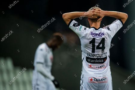 Cercle's Charles Vanhoutte reacts during a soccer match between Beerschot VA and Cercle Brugge KSV, Wednesday 13 January 2021 in Antwerp, a postponed match of day 17 of the 'Jupiler Pro League' first division of the Belgian championship.