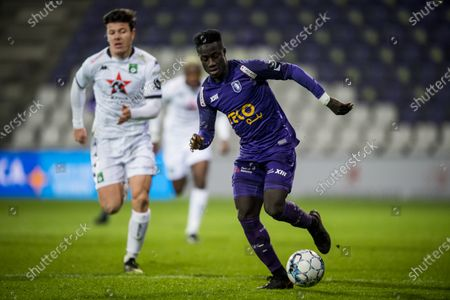 Beerschot's Abdoulie Sanyang pictured in action during a soccer match between Beerschot VA and Cercle Brugge KSV, Wednesday 13 January 2021 in Antwerp, a postponed match of day 17 of the 'Jupiler Pro League' first division of the Belgian championship.