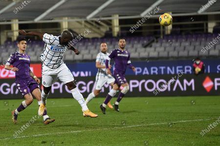 Romelu Lukaku of FC Internazionale scores a goal of 1-2