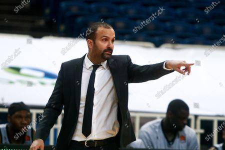 Head coach of LDLC Asvel Villeurbanne , TJ Parker, reacts during the Euroleague Basketball match between Panathinaikos Opap Athens and LDLC Asvel Villeurbanne at the OAKA Stadium in Athens, Greece, 13 January 2021.