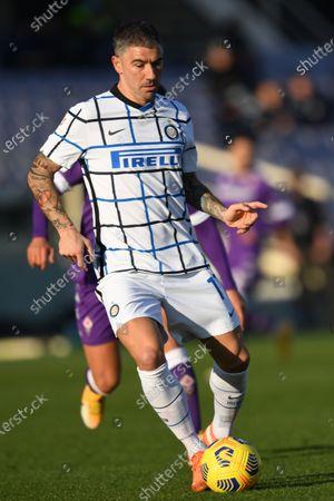 "Aleksandar Kolarov (Inter)            during the Italian ""Serie A Tim Cup match between Fiorentina 1- 2 (d.t.s.) Inter  at  Artemio Franchi Stadium on January 13 , 2021 in Florence, Italy."