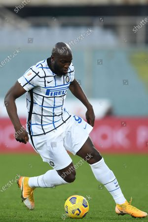 """Romelu Lukaku (Inter)            during the Italian """"Serie A Tim Cup match between Fiorentina 1- 2 (d.t.s.) Inter  at  Artemio Franchi Stadium on January 13 , 2021 in Florence, Italy."""