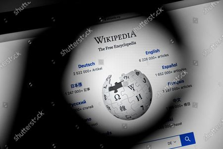 Editorial photo of 20 years of Wikipedia online encyclopedia, Cologne, Germany - 13 Jan 2021