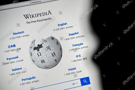 Editorial image of 20 years of Wikipedia online encyclopedia, Cologne, Germany - 13 Jan 2021