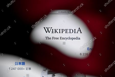 Editorial picture of 20 years of Wikipedia online encyclopedia, Cologne, Germany - 13 Jan 2021
