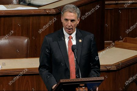Taken from video, Rep. Tom Rice, R-S.C., speaks as the House of Representatives debates the articles of impeachment against President Donald Trump at the Capitol in Washington. Rice was one of only 10 House Republican on to join with Democrats in voting to impeach President Trump, a stunning reversal from his position just days earlier