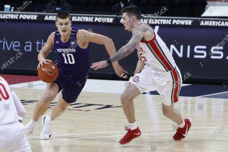 Editorial image of Northwestern Ohio St Basketball, Columbus, United States - 13 Jan 2021