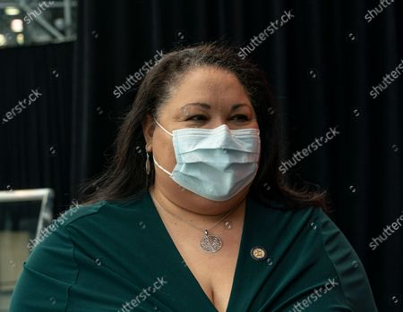Secretary of State Rossana Rosado attends Jacob Javits Center on opening vaccination site. Health care personnel, medical examiners, funeral workers, coroners, essential workers, police officers, firefighters, people older than 65 and more eligible right now to get vaccination in New York State.Â