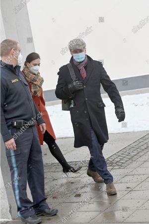 Rupert Stadler leaves court on foot - Criminal proceedings due to Volkswagen diesel scandal - Courtroom of Stadelheim Prison