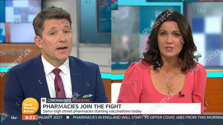 Ben Shephard, Susanna Reid and Richard Gaisford