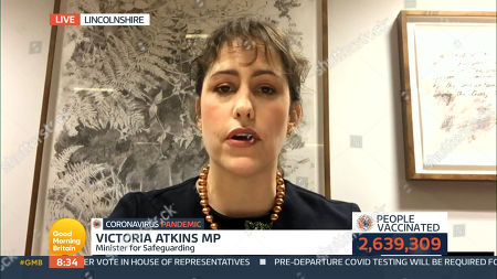 Editorial picture of 'Good Morning Britain' TV Show, London, UK - 14 Jan 2021