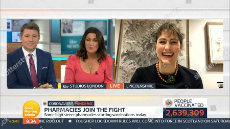 Editorial image of 'Good Morning Britain' TV Show, London, UK - 14 Jan 2021