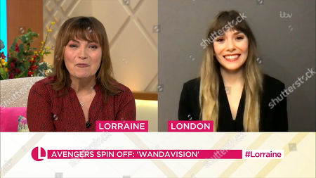 Lorraine Kelly and Elizabeth Olsen