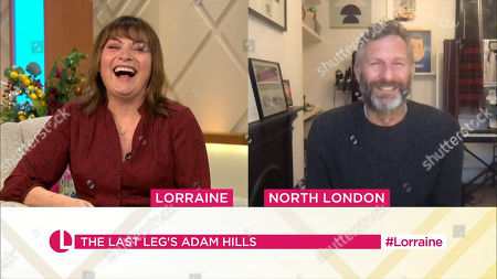 Stock Image of Lorraine Kelly and Adam Hills