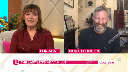 Lorraine Kelly and Adam Hills