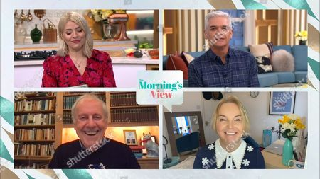 Stock Photo of Holly Willoughby, Phillip Schofield, Gyles Brandreth and India Willoughby
