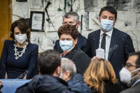 Editorial image of Italia Viva press conference on the government crisis, Rome, Italy - 13 Jan 2021