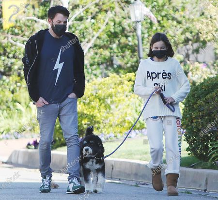 Ben Affleck takes daugther Seraphina Affleck for a stroll with their pet