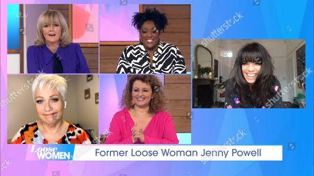 Jane Moore, Judi Love, Denise Welch, Nadia Sawalha and Jenny Powell