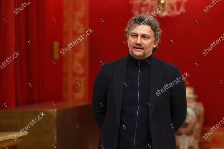 Stock Image of German tenor Jonas Kaufmann, poses for the photographers during the presentation of Opera Stars Festival at the Royal Opera House, in Madrid, Spain, 14 January 2021. The festival runs until 15 January 2021.