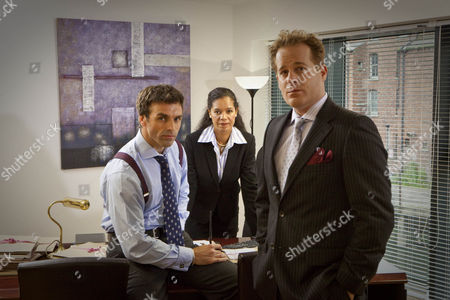 Stock Picture of 'If Dogs Run Free' Picture shows - Jonathan Wrather as Daffyd Mansell-Smith, Jaye Griffiths as Alice Parmenter and Adam James as Greg Salmond