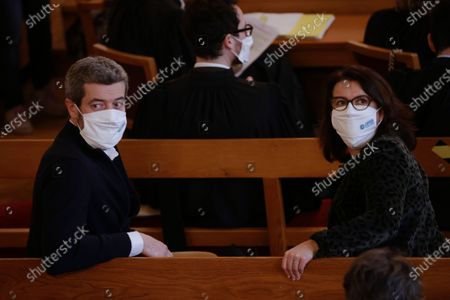 Greenpeace France General Director Jean-Francois Julliard (L) and Oxfam Executive Director Cecile Duflot (R) look on prior to the opening of the so-called 'affaire du siecle' (the case of the century) trial at the Administrative courthouse in Paris, France, 14 January 2021. Four French NGOs (non-governmental organizations) assigned the French government for inaction to fight against global warming and Climate change.