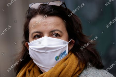 Stock Photo of Oxfam Executive Director Cecile Duflot looks on prior to the opening of the so-called 'affaire du siecle' (the case of the century) trial at the Administrative courthouse in Paris, France, 14 January 2021. Four French NGOs (non-governmental organizations) assigned the French government for inaction to fight against global warming and Climate change.