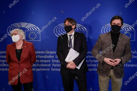 Editorial picture of Carles Puigdemont's immunity studied by the European Parliament, Brussels, Belgium - 14 Jan 2021