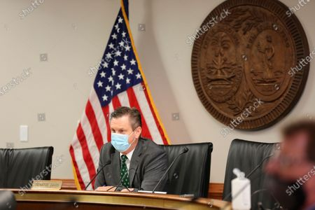 South Carolina Sen. Tom Davis, R-Beaufort, leads a Senate subcommittee hearing on a bill that would ban almost all abortions in the state, in Columbia, S.C. The heartbeat abortion bill has stalled in recent years, but appears to have a good chance of passing in 2021