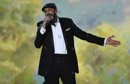 """Juan Luis Guerra performs at the Latin Recording Academy Person of the Year gala honoring Juanes in Las Vegas on . Guerra released an EP """"Prive"""" last month"""
