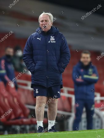 Stock Picture of Crystal Palace's assistant manager Ray Lewington reacts during the English Premier League soccer match between Arsenal FC and Crystal Palace in London, Britain, 14 January 2021.