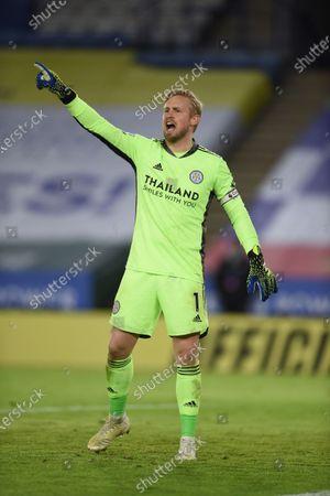 Goal Keeper Kasper Schmeichel of Leicester City.
