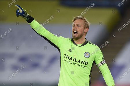 Stock Image of Goal Keeper Kasper Schmeichel of Leicester City.