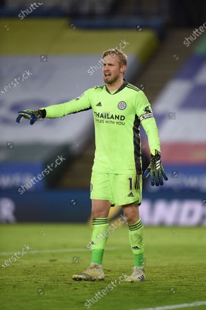 Stock Picture of Goal Keeper Kasper Schmeichel of Leicester City.