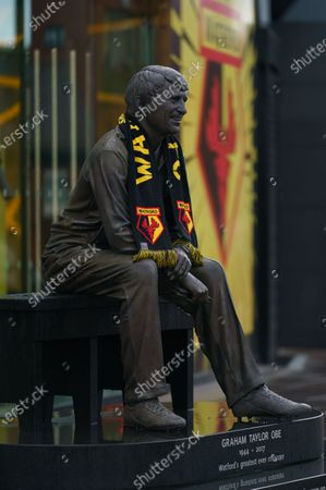The Graham Taylor Memorial Statue outside of Vicarage Road