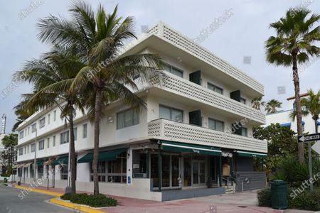 "Editorial photo of Gianni Versace's favorite restaurant has closed ""temporarily"", Miami, Florida, USA - 14 Jan 2021"