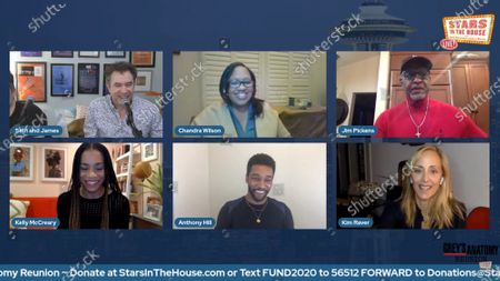Stock Photo of Seth Rudetsky, James Wesley, Chandra Wilson, James Pickens Jr, Kelly McCreary, Anthony Hill, Kim Raver