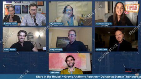 Stock Photo of Seth Rudetsky, James Wesley, Camilla Luddington, Chris Carmack, Greg Germann, Richard Flood, Jake Borelli