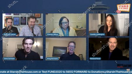 Stock Image of Seth Rudetsky, James Wesley, Camilla Luddington, Jake Borelli, Chris Carmack, Greg Germann, Richard Flood
