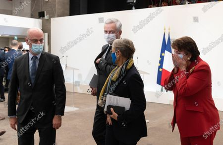 French Education, Youth and Sports Minister Jean-Michel Blanquer, French Economy Minister Bruno Le Maire, French Labour Minister Elisabeth Borne and French Culture and Communication minister Roselyne Bachelot.
