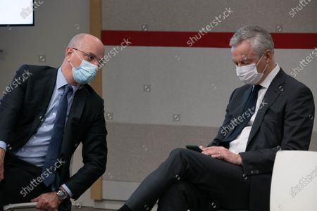French Education, Youth and Sports Minister Jean-Michel Blanquer and French Economy Minister Bruno Le Maire.