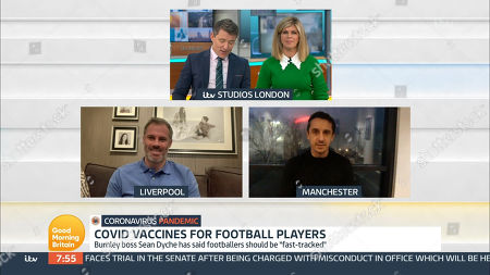 Stock Picture of Ben Shephard, Kate Garraway, Jamie Carragher and Gary Neville
