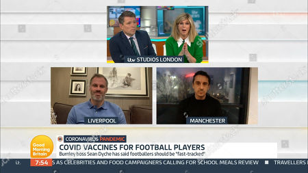 Ben Shephard, Kate Garraway, Jamie Carragher and Gary Neville