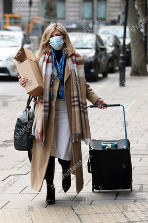 Kate Garraway departs the Global Radio Studios
