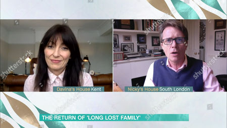 Stock Photo of Nicky Campbell and Davina McCall
