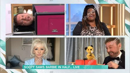 Richard Cadell Dermot O'Leary, Alison Hammond, Debbie McGee, Richard Cadell and Sooty