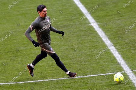 Atletico Madrid's Montenegrin defender Stefan Savic performs during his team's training session at Wanda Sports Centre in Majadahonda, near Madrid, central Spain, 15 January 2021. Atletico Madrid will face SD Eibar in their Spanish La Liga soccer match on 21 January 2021.