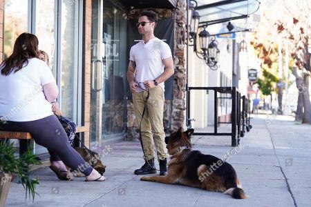 Stock Image of Sasha Farber with dog